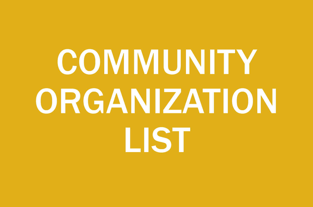 community organization list